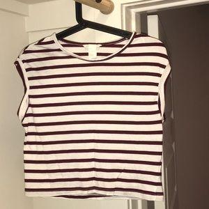 H&M sleeveless nautical top